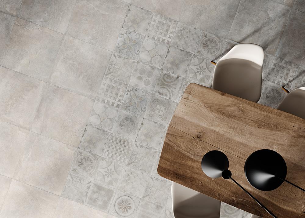 Creta Grigia 60x60 - Cementine mix 30x30