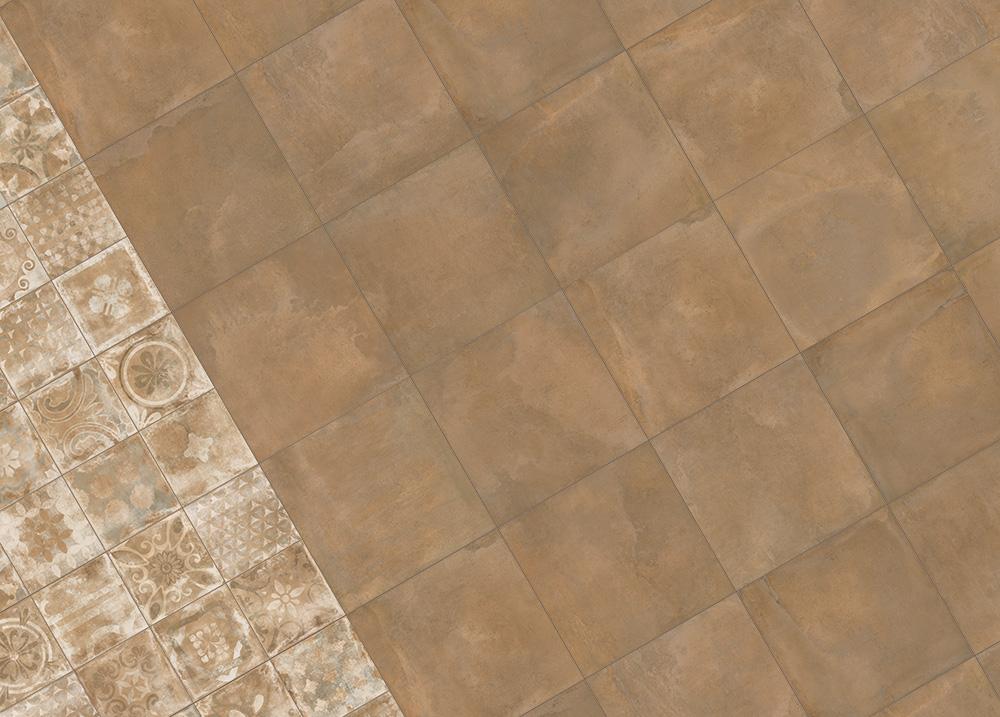 Creta Terra 60x60 - Cementine mix 30x30
