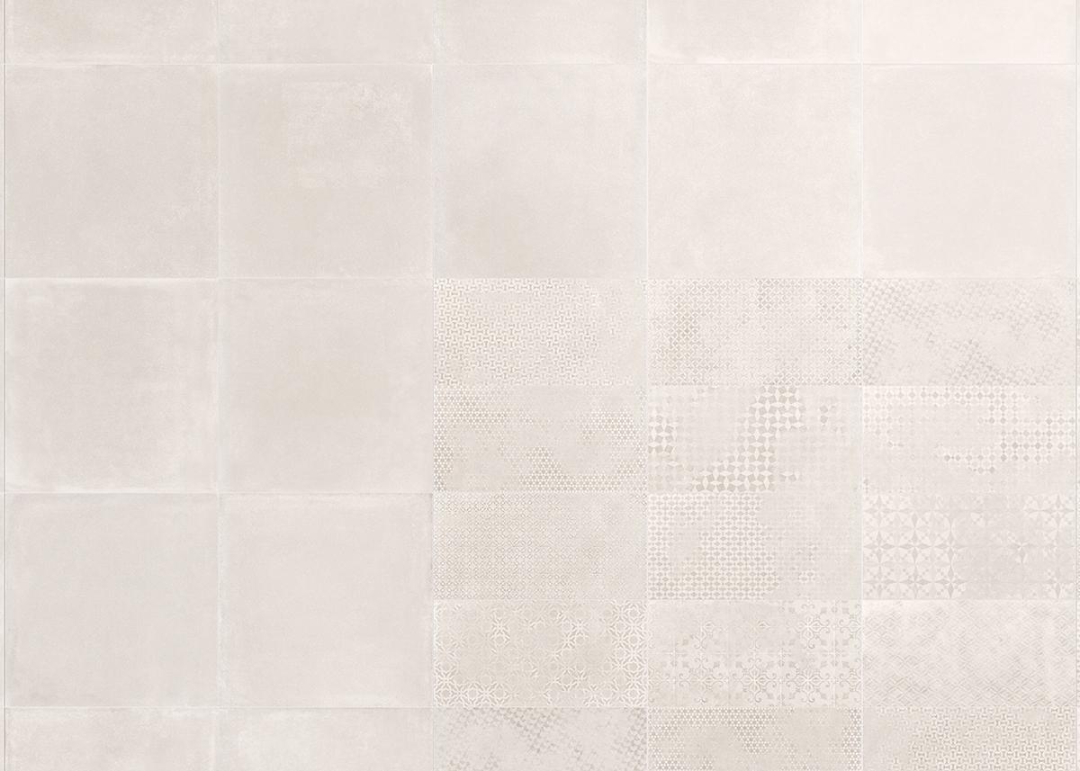 Concreta Bianco 60x60, Decoro Mix 30x60