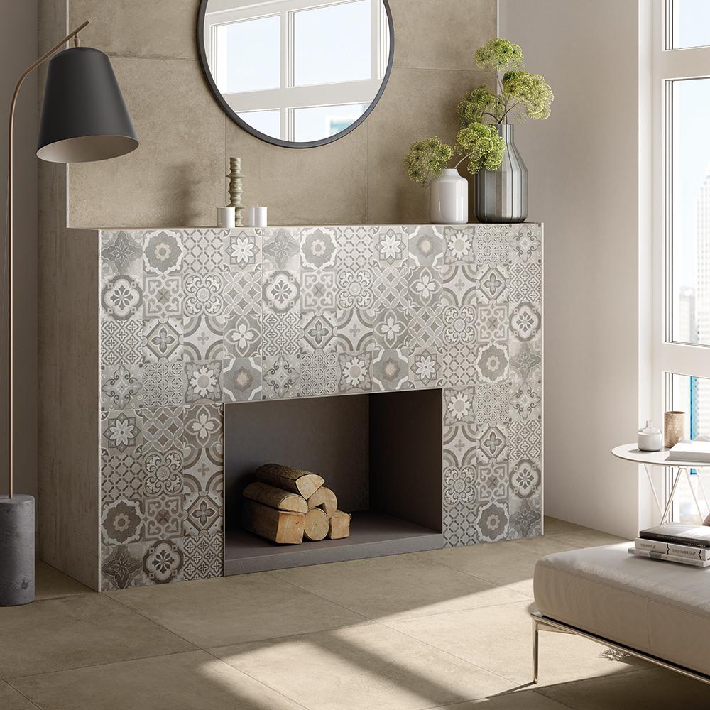 Progetto: WALL Cemento Sabbia 60x60, Cemento Decoro Cementine 60x60, FLOOR Cemento Sabbia 60x60